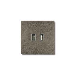 USB outlet - fer forgé grey | USB power sockets | Basalte