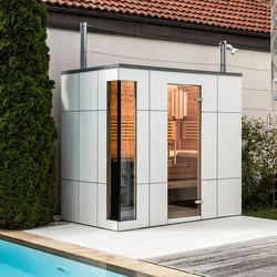 Swiss pine Outdoor sauna | Saunas | DEISL SAUNA & WELLNESS