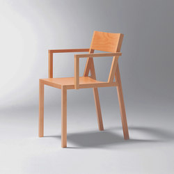 Steiner | Chair Delta with armrests | Chaises | Schmidinger Möbelbau