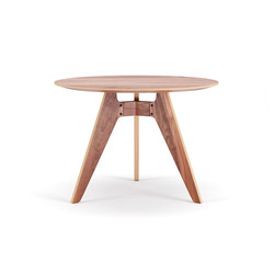 Lavitta Round Table 100cm – Walnut | Tables de repas | Poiat