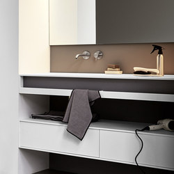 Unico Top with integrated washbasin | Towel rails | Rexa Design