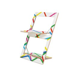Fläpps Folding Chair | Bunte Linien | Sillas | Ambivalenz