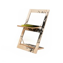 Fläpps Folding Chair | Baum/Baum Gelb | Sillas | Ambivalenz