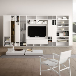 Spazioteca | SP014 | Wall storage systems | Pianca