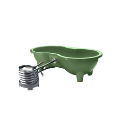 Dutchtub Loveseat Olive Green | Outdoor bathtubs | Weltevree
