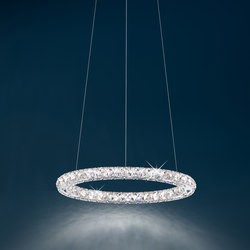 Circle LED Pendant | Suspended lights | Swarovski Lighting