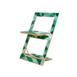 Fläpps Folding Chair | Criss Cross Green | Sillas | Ambivalenz