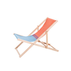 Beachchair red/blue | Lettini giardino | Weltevree
