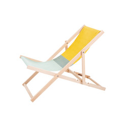 Beachchair green/yellow | Lettini giardino | Weltevree