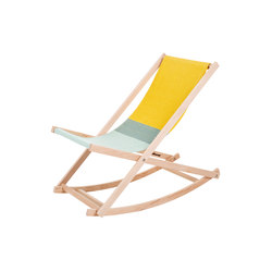 Beachrocker green/yellow | Sun loungers | Weltevree