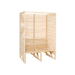 Patioset High Back 2-3 Naked | Benches | Weltevree
