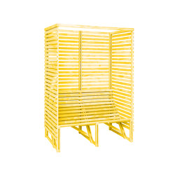 Patioset High Back 2-3 Yellow | Benches | Weltevree