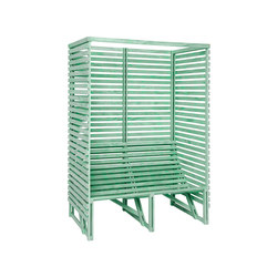 Patioset High Back 2-3 Green | Benches | Weltevree