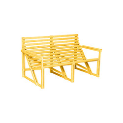 Patiobench 2-3 Yellow | Garden benches | Weltevree