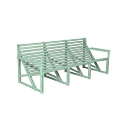 Patiobench 4-5 Green | Garden benches | Weltevree