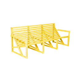 Patiobench 4-5 Yellow | Benches | Weltevree