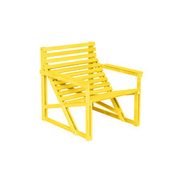 Patio Easy Chair Yellow | Chairs | Weltevree
