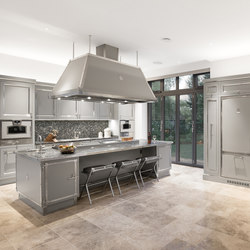 TAILOR MADE KITCHENS | SOFT GREY & SATIN NICKEL KITCHEN | Fitted kitchens | Officine Gullo