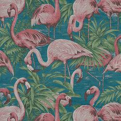 Curiosa Flamingo | Carta parati / tappezzeria | Arte