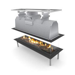 Sinatra Island 1200, 1600, 2000, 2400 | Open fireplaces | Planika