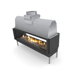 Sinatra Tunnel 1200, 1600, 2000, 2400 | Open fireplaces | Planika