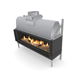 Sinatra F | Front Glazing 1200 / 1600  / 2000 / 2400 | Open fireplaces | Planika