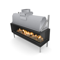 Sinatra FR | Front/Right Glazing 1200 / 1600  / 2000 / 2400 | Open fireplaces | Planika
