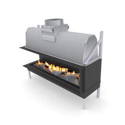 Sinatra LF | Left/Front Glazing 1200 / 1600  / 2000 / 2400 | Open fireplaces | Planika