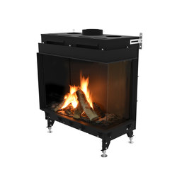 Monroe FR | Front/Right Glazing 900 | Chimeneas cerradas | Planika