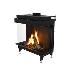 Monroe LFR | Left/Front/Right Glazing 900 | Chimeneas cerradas | Planika