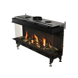 Valentino LFR |Left/Front/Right Glazing 1000/1300 | Closed fireplaces | Planika