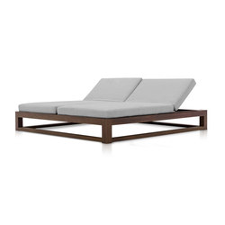 Equinox Double Chaise Lounge | Lettini giardino | TUUCI