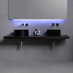 Abisso Countertop washbasin | Wood panels | Atelier12