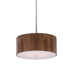 Wood Veneer Drum Pendant | Suspended lights | Donovan Lighting