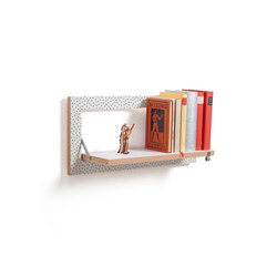 Fläpps Shelf 60x27-1 | Watercolor Dots by Kind of Style | Shelving | Ambivalenz