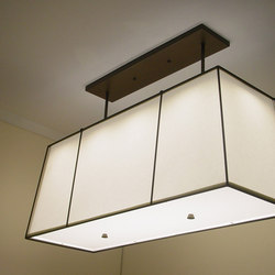 Fabric Shades | Suspended lights | Donovan Lighting