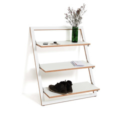 Fläpps Leaning Shelf 80x100-3 | White | Shelving | Ambivalenz