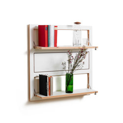 Fläpps Shelf 80x80-3 | White | Shelves | Ambivalenz