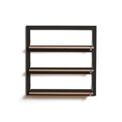Fläpps Shelf 80x80-3 | Black | Shelving | Ambivalenz