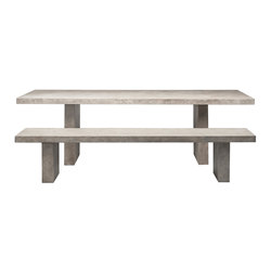 Tommaso Meteorite Table & Bench | Tables and benches | ZEUS