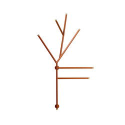 Twig hanger | Portasciugamani | Svedholm Design
