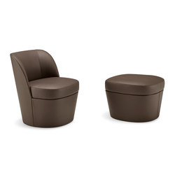 Tam Tam | lounge armchair mono with pouf | Fauteuils d'attente | Frag