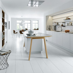 next125 cooking table Solid crystal white | Island kitchens | next125