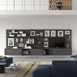 Spazio | S313 | Wall storage systems | Pianca