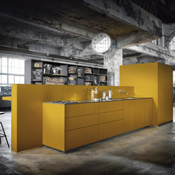 NX 505 Saffron yellow satin | Fitted kitchens | next125