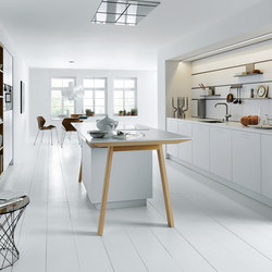 NX 800 Solid crystal white | Fitted kitchens | next125