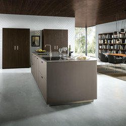 NX 902 Glass Matt Platinum Metallic | Fitted Kitchens | Next125