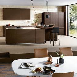 NX 902 Glass matt bronze metallic | Fitted kitchens | next125