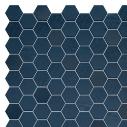 Hexa | Mosaic Deep Navy | Ceramic mosaics | TERRATINTA GROUP