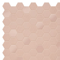 Hexa | Mosaic Rosy Blush | Ceramic mosaics | TERRATINTA GROUP
